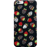 Chocolate Dipped Stawberries Pattern iPhone Case/Skin