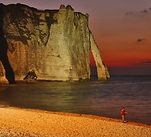 Étretat.....after sunset.... by Adri  Padmos