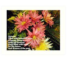 Fall Poem Art Print