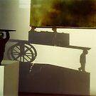 vague self portrait of the artist stealing art in a phantom cart by KreddibleTrout