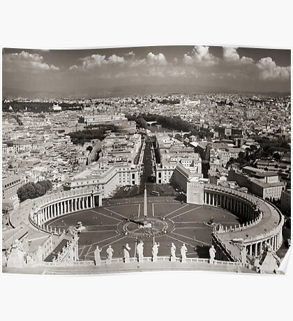 Top of St. Peters Poster