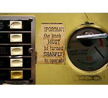 the knob must be turned Photographic Print