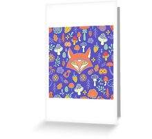 - Fox pattern (violet) - Greeting Card