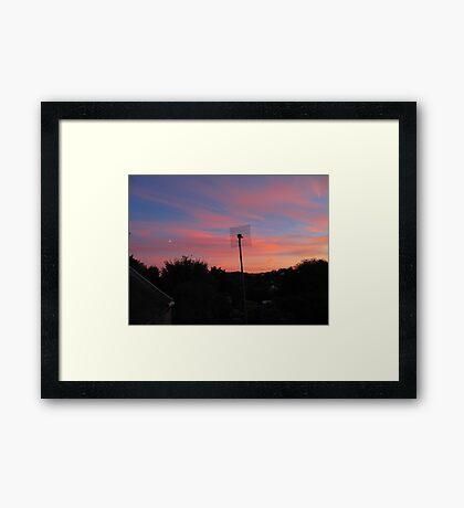 Sunset Moon Rise Framed Print