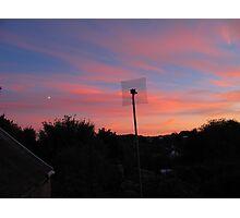 Sunset Moon Rise Photographic Print