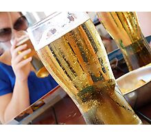cool beer hot day Photographic Print