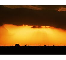 STORM CLOUDS AND SUNSET Photographic Print
