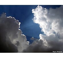 Sun Rays in Clouds Photographic Print