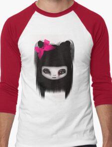 little scary doll Men's Baseball ¾ T-Shirt