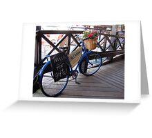 Advertising bike Greeting Card