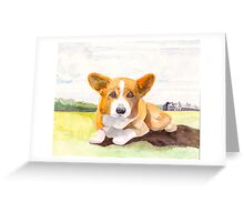 Saratoga Springs Corgi Greeting Card