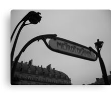Metro station Louvre Canvas Print