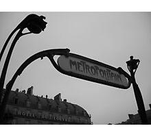Metro station Louvre Photographic Print