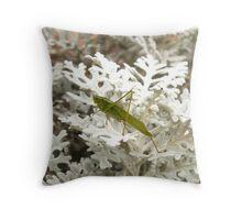 Katydid Throw Pillow