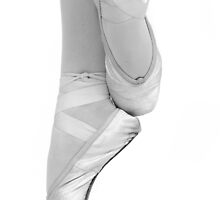 ballett dancing shoes in black and white by caughtinmotion