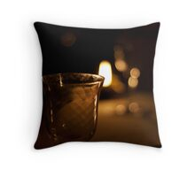 Empty wine glass Throw Pillow