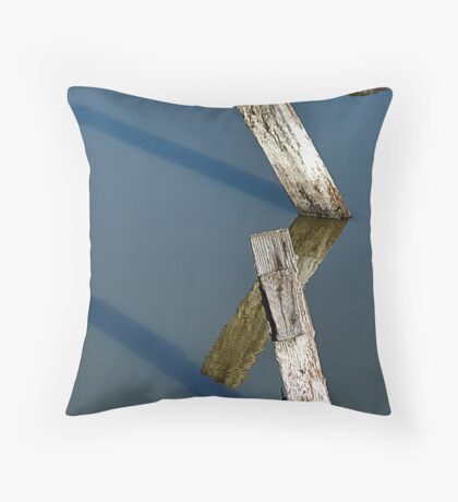 Old Fence Posts Throw Pillow