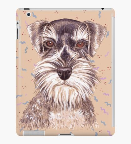 Miniature German Schnauzer dog iPad Case/Skin