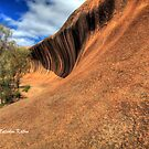 Surf City - Wave Rock at Hyden, WA by Malcolm Katon