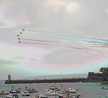 red arrows, st peter port, guernsey by whackycat
