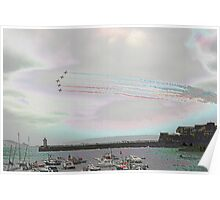 red arrows, st peter port, guernsey Poster