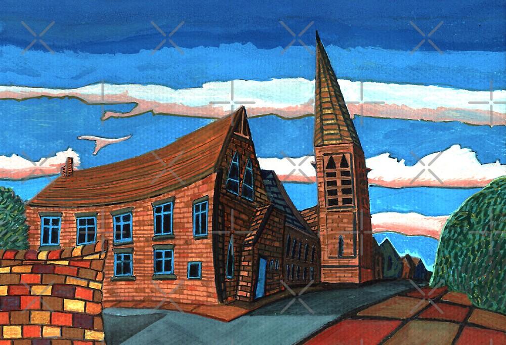 181 - UNITED REFORMED CHURCH, BLYTH (GOUACHE) by BLYTHART