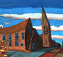 181 - UNITED REFORMED CHURCH, BLYTH (GOUACHE) by BLYTHART