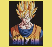 just saiyan black background Kids Clothes