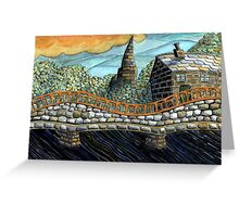 167 - MORPETH BRIDGE (WATERCOLOUR & COLOURED PENCILS) Greeting Card