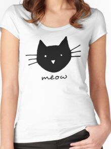 Meow. Women's Fitted Scoop T-Shirt