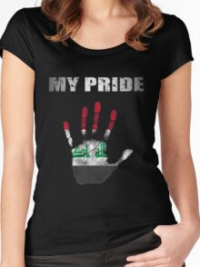 Iraq My Pride Women's Fitted Scoop T-Shirt