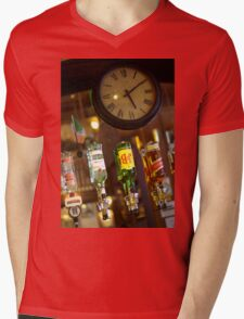 Passing Time Mens V-Neck T-Shirt