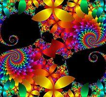 Rainbow Swirls by Sue Hays