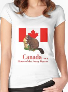 Furry Canada Women's Fitted Scoop T-Shirt
