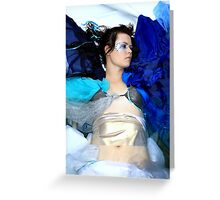 Blue, the most human colour... Greeting Card