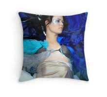 Blue, the most human colour... Throw Pillow