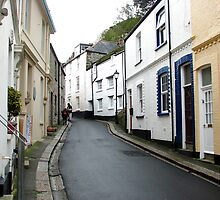 Winding streets of Mevagissey, Cornwall by ecotterell
