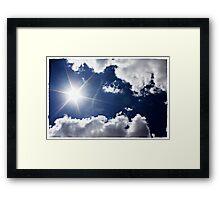 African Sky Blue Framed Print