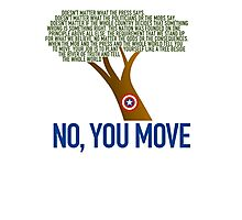 No, You Move (color) Photographic Print