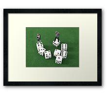 Poker Dice Framed Print