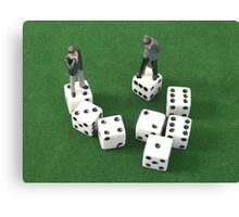 Poker Dice Canvas Print