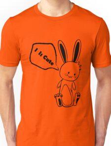Cute Black and White Rabbit Unisex T-Shirt