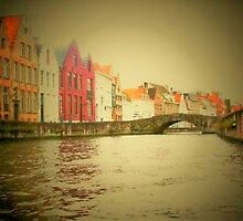 Bruge Canal Artistic View by longaray2
