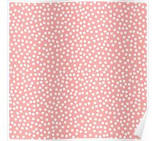 Tiny polka dots in pastel peach. Poster