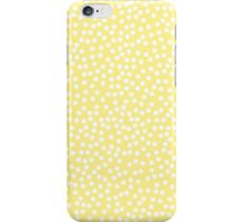 Tiny polka dots in pastel light yellow. iPhone Case/Skin
