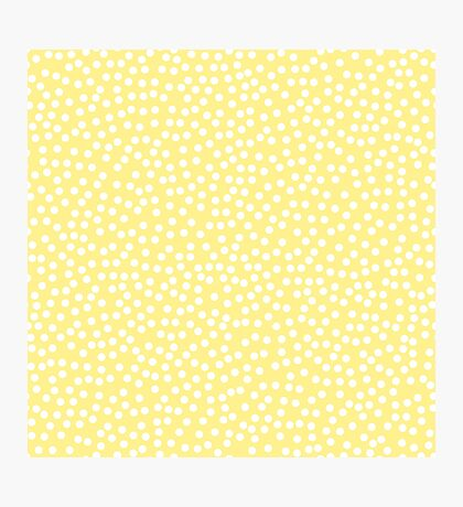 Tiny polka dots in pastel light yellow. Photographic Print
