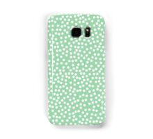 Tiny polka dots in pastel green. Samsung Galaxy Case/Skin