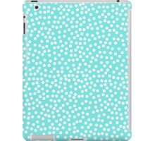 Tiny polka dots in pastel prettiest blue. iPad Case/Skin