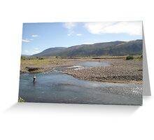 Fly Fisherman - Soda Butte Creek Greeting Card