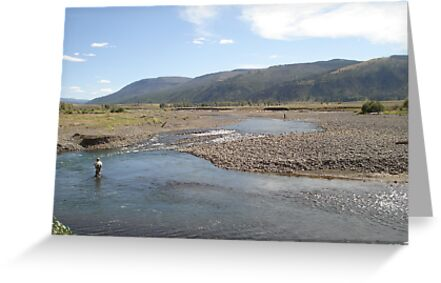 Fly Fisherman - Soda Butte Creek by May Lattanzio